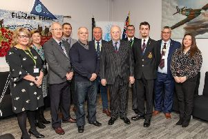 The Lord Lieutenant (centre) at the Armed Forces Hub