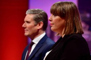 Jess Phillips pulls out of leadership race. Image: Jeff Overs/BBC