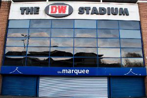 Staff had to move to another premises after damage at the DW Stadium