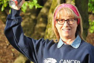 Carolyn starting Wigans Race for Life in 2017