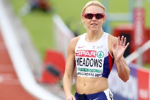 Great Britain's Jenny Meadows at the European Championships