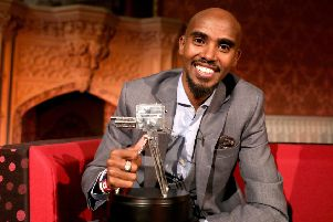 Sir Mo Farah after winning the 2017 BBC Sports Personality of the Year Award