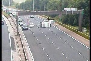 Lanes have been blocked by the accident on the M6