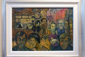 Hidden for almost 60 years, Isherwoods Coronation Street painting