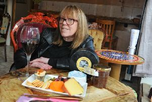 Tracey Stevens in her new Hallgate wine and cheese bar Relish
