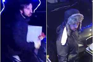 The two men police want to speak to in connection with the attack in Norley Hall