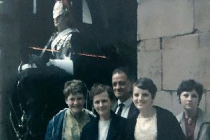 Taken in London in July 1968 six months before my dad died. From left, my sister Janet, Mother, Dad, and sisters Margaret and Marion