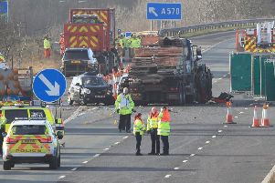 The aftermath of one of the crashes