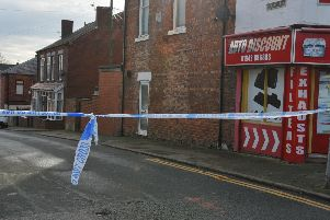 Naylor Street has been cordoned off