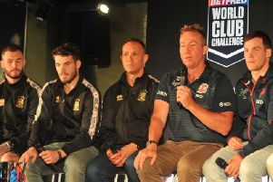 Wigan Warriors and Sydney Roosters hold a press conference ahead of their World Club Challenge match this weekend, hosted at Revolution bar, Wigan.