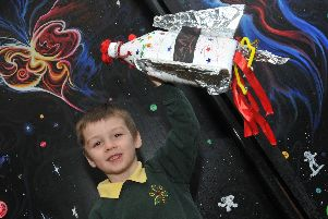 Reception years have been learning about space by making calendars, building models and painting.