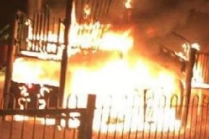 Arson probe as vandals send play area up in flames