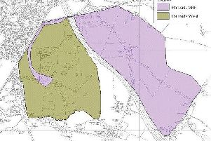 A map showing the scale of the development proposed for Parkside