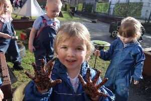 Children have been learning how to garden, read, model clay and more.