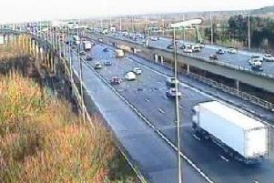 Police and Highways officers are dealing with a broken down lorry on the M6 northbound exit slip at junction J20 to A50 near Lymm, Cheshire.