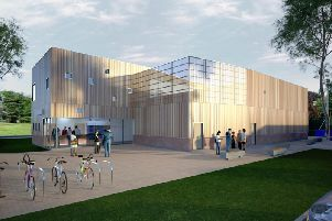 An artists impression of the new leisure centre