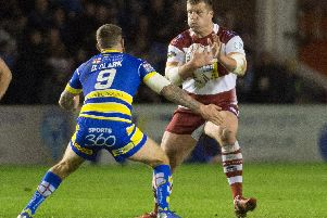 Tony Clubb takes in a carry