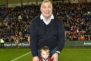 Shaun Wane with grandson Teddy after winning the 2017 WCC