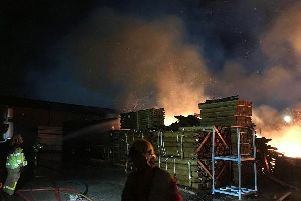 The fire at the timber yard