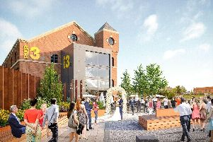 An artist's impression of the Wigan Pier revamp