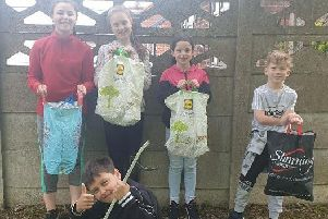 The youngsters collected six bags full of rubbish