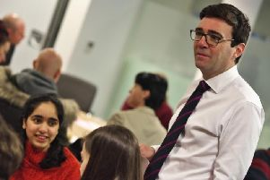 Andy Burnham at the Meet your Future launch