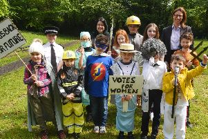 Woodfield Primary School pupils dressed as their heroes for the day