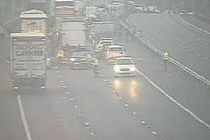 The M6 was closed for nine hours after the crash