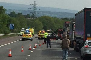 Traffic came to a standstill on the M58