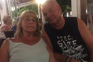 Graham Bullen with his wife Jackie