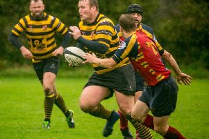 James Pearson, playing for Orrell Rugy Union.'Photo by Orrell Penguin - Bryan Fowler