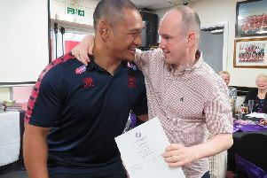 Wigan Warriors star Taulima Tautai handed out the awards