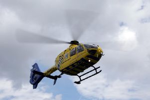 The air ambulance was called