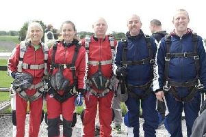 From left: Joyce King, Chloe Roper, James Turner, Jamie Sinclair and Darren Tanswell