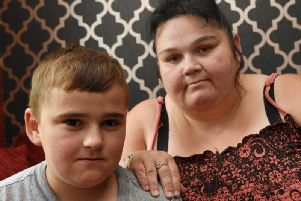Mum Lindsay Howarth with 11-year-old son Corey