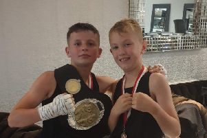 Owen Lythgoe(left) with fellow youngster Isaac Simm(right)