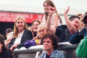 Leo Sayer at the dreadfully attended Hilton Park 98 concert where he was a performer