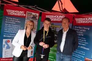 The event was hosted by TV presenters and motoring experts Vicki Butler-Henderson and Quentin Willson (pictured with Jack)