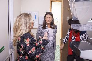 Wigan MP Lisa Nandy tours the new units with staff