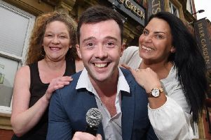 Bar manager Donna Mann-Cairns, BG entertainer Simon Humphreys and owner Nancy Reid, get ready to host Britains Got Talent auditions on September 22 at The Bowling Green pub