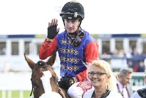 Jockey Oisin Murphy after victory in the royal colours of the Queen at Doncaster earlier this month. (PHOTO BY: George Wood/Getty Images).