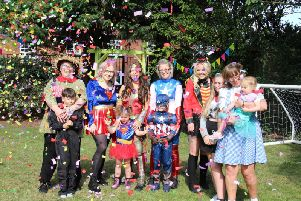 Staff, residents and their loved ones dressed in their favourite fancy dress attire