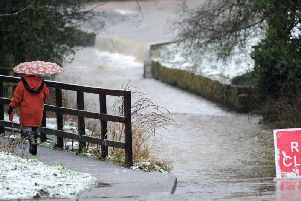 Reports are coming in of flooding on roads in Nottinghamshire this morning.