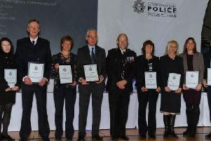 A team of police experts whose tenacity helped solve a 'horrific' rape case were awarded with a Chief Constables Commendation