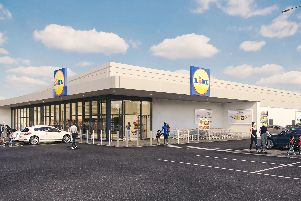 CGI image of what the proposed store could look like once completed.