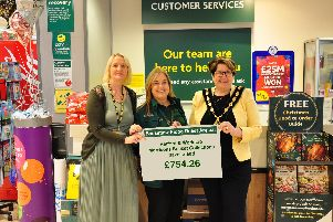 Annie Parry, Bassetlaw Community and Voluntary Service, Victoria Brooks, Morrisons Community Champion, Councillor Debbie Merryweather, Chair, Bassetlaw District Council.