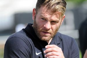 Ryan Hindley pictured while manager of Worksop Town
