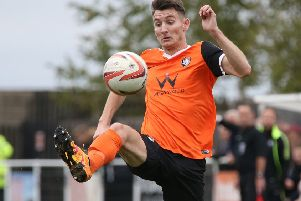 NWGU Worksop Town v Rainworth MW'IN PICTURE: Connor Brunt.'STORY: SPORT LEAD: Worksop Town FC v Rainworth MW.  Toolstation Northern Counties East Football League match at Sandy Lane, Worksop.  Saturday 29th October 2016.  PHOTOGRAPHER: MARK FEAR/MARK FEAR PHOTOGRAPHY.
