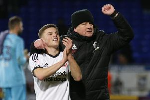 Chris Wilder and Steelphalt Academy graduate Regan Slater: Simon Bellis/Sportimage