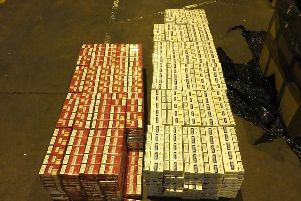 The cigarettes seized by HM Revenue and Customs.